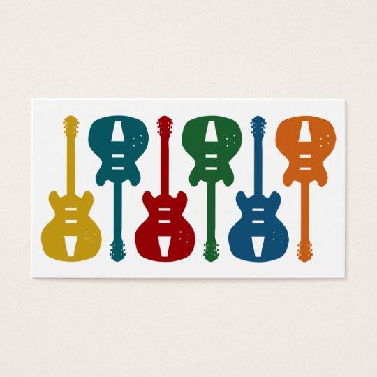 Guitar Instruction Business Cards