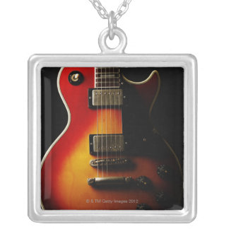Guitar Instruments Silver Plated Necklace