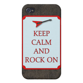 Guitar Keep Calm Rock On Speck Case iPhone4 Case For iPhone 4