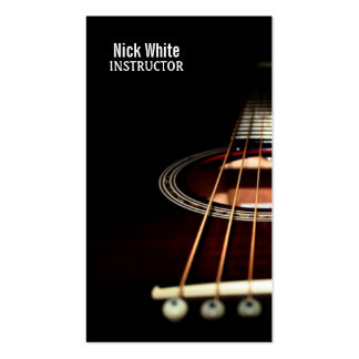 Guitar Lesson Music Instructor Business Cards