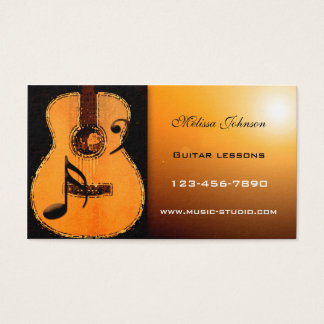 Guitar Lessons Appointment Card