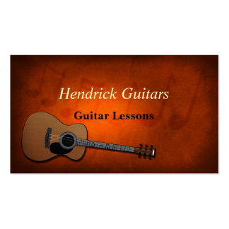 Guitar Lessons Guitar Sales Pack Of Standard Business Cards