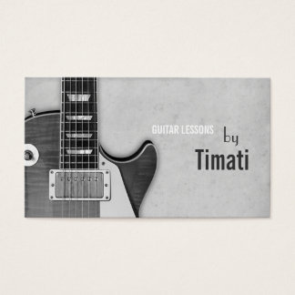 Guitar Lessons, Music , Instruments Instructor Business Card