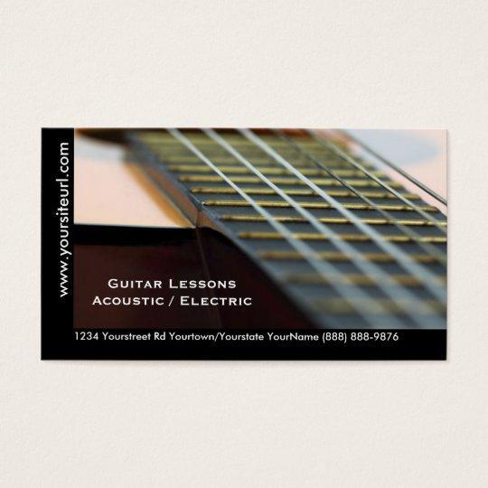 Guitar Lessons - Music Teacher Acoustic Guitar Business