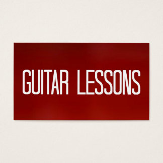 Guitar Lessons Red Business Card