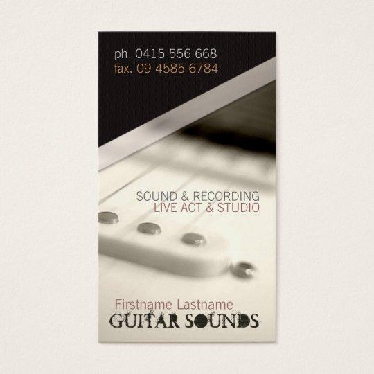 GUITAR LIGHT Vertical  Business card