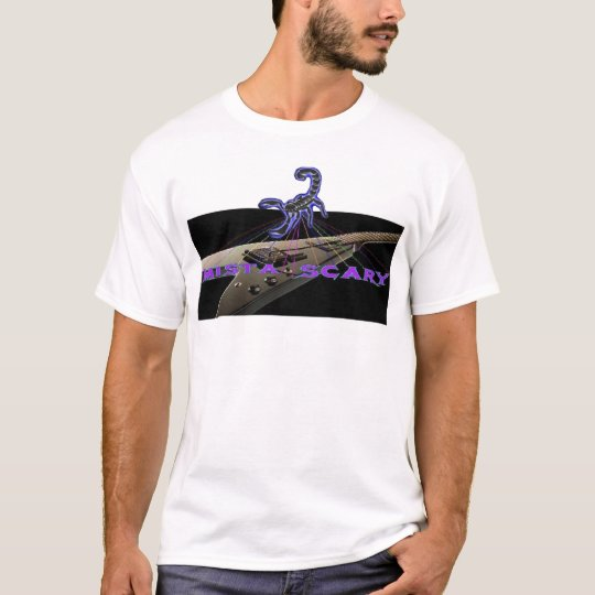 Guitar Logo Banner Scorpion T-shirt