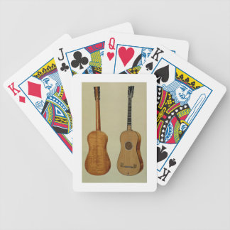 Guitar made by Antonio Stradivarius (c.1644-1737), Bicycle Playing Cards