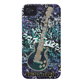 Guitar Magic ~ Chaotic Notes with Electric Guitar iPhone 4 Case-Mate Cases