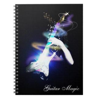 Guitar Magic Colorful Spiral Bound Notebook