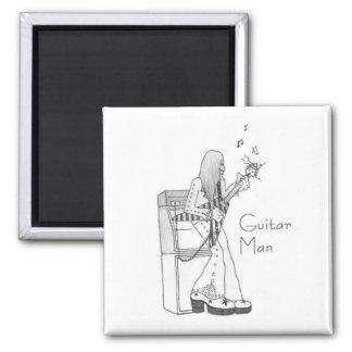 Guitar Man Square Magnet