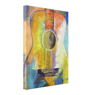 Guitar Melodies Painting Canvas Print