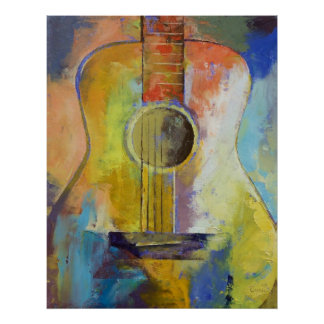 Guitar Melodies Print