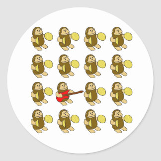 Guitar Monkey Sticker