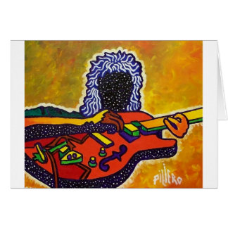 Guitar Music by Piliero Greeting Card