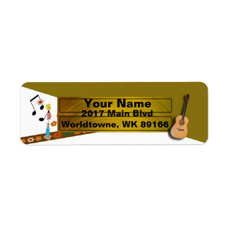 Guitar music lover's return address label