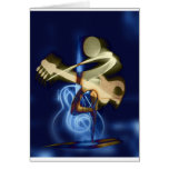 Guitar Music String Destiny Song and Dance Greeting Card