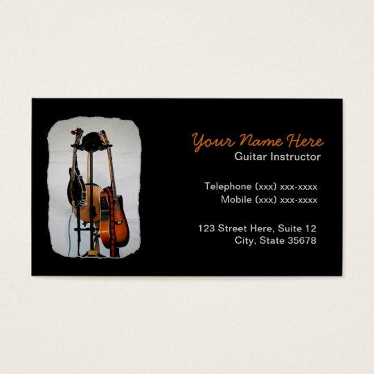 Guitar Musical Instrument Instructor Business Card