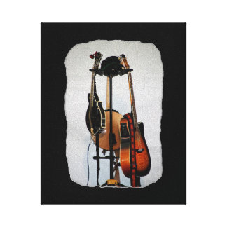 Guitar Musical Instruments Stretched Canvas Canvas Prints