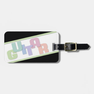Guitar Musician's Identification Luggage Tag