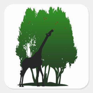 Guitar Neck Giraffe Square Sticker