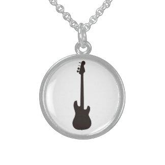 Guitar neckles round pendant necklace