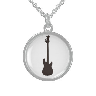 Guitar neckles sterling silver necklace