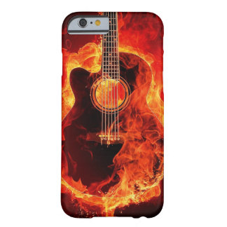 Guitar on fire barely there iPhone 6 case