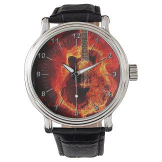 Guitar on fire watch