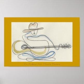Guitar Oneliner Poster