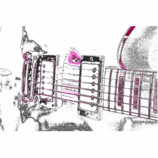 guitar outline image pink black bridge photo cut out