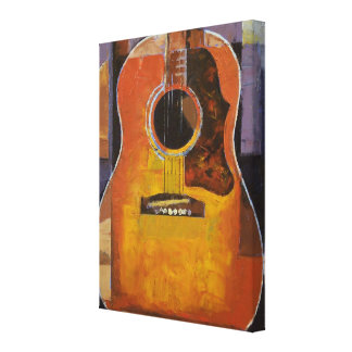 Guitar Painting Stretched Canvas Prints