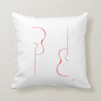 Guitar Patterns Throw Pillow