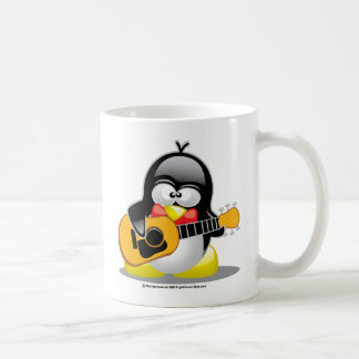 Guitar Penguin Coffee Mug