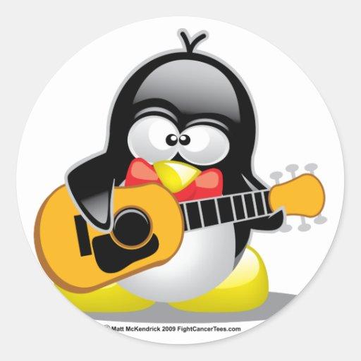Guitar Penguin Sticker