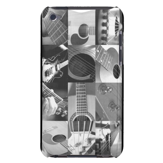 Guitar Photo Collage - black and white Case-Mate