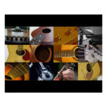 Guitar Photo Collage Print