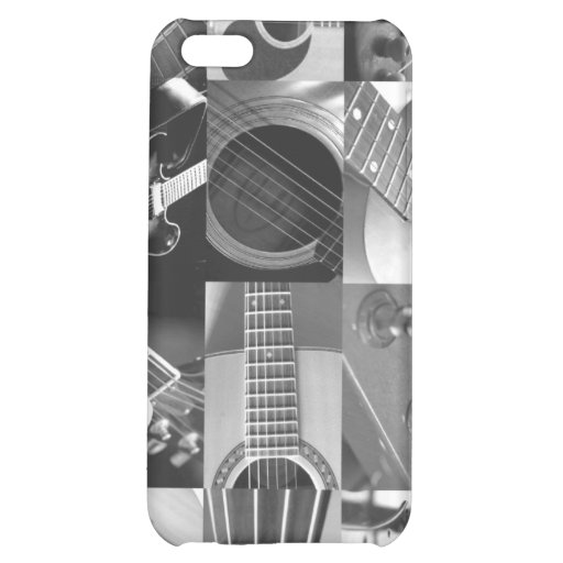 Guitar Photography Collage - black and white iPhone 5C Covers