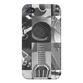 Guitar Photography Collage - black and white iPhone 4/4S Covers
