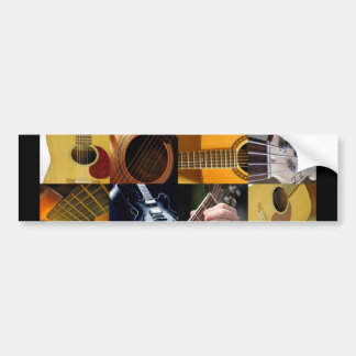 Guitar Photos Collage Bumper Stickers