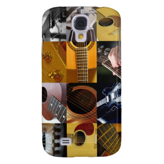 Guitar Photos Collage Galaxy S4 Cases
