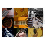 Guitar Photos Collage Greeting Card