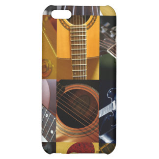 Guitar Photos Collage Cover For iPhone 5C