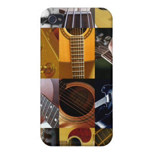 Guitar Photos Collage Covers For iPhone 4