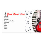 Guitar Piano Keyboard Music Notes Business Card