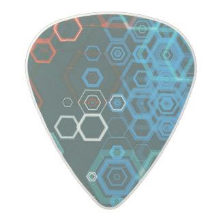 guitar pic hexagan abstract acetal guitar pick