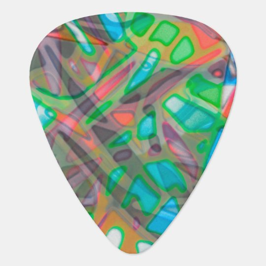 Guitar Pick Colourful Stained Glass
