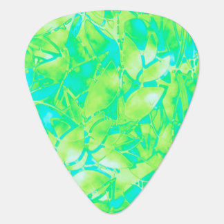 Guitar Pick Grunge Art Floral Abstract