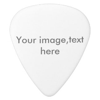 Guitar pick or plectrum, add photo,words white delrin guitar pick