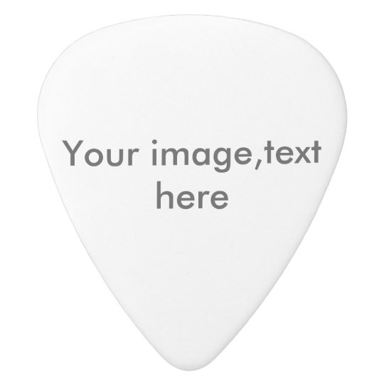 Guitar pick or plectrum, add photo,words white delrin